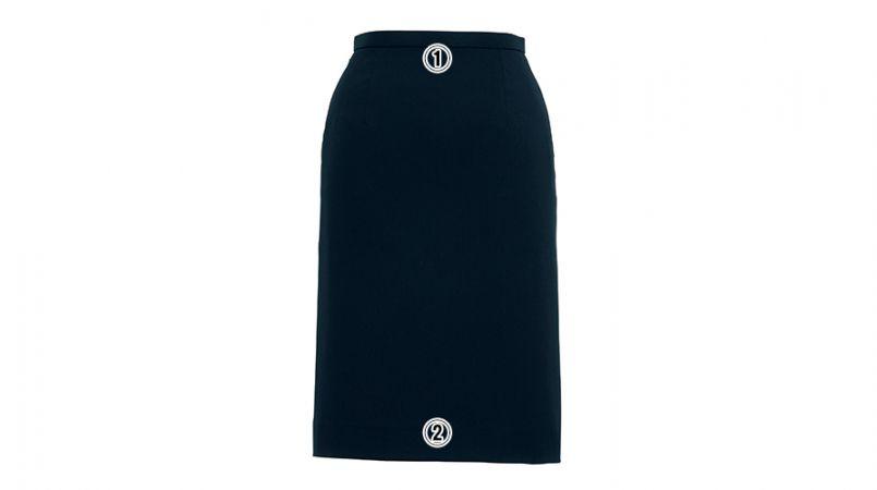 BONMAX AS2257 [通年]トリクシオンヘリンボーン タイトスカート 無地 商品詳細・こだわりPOINT