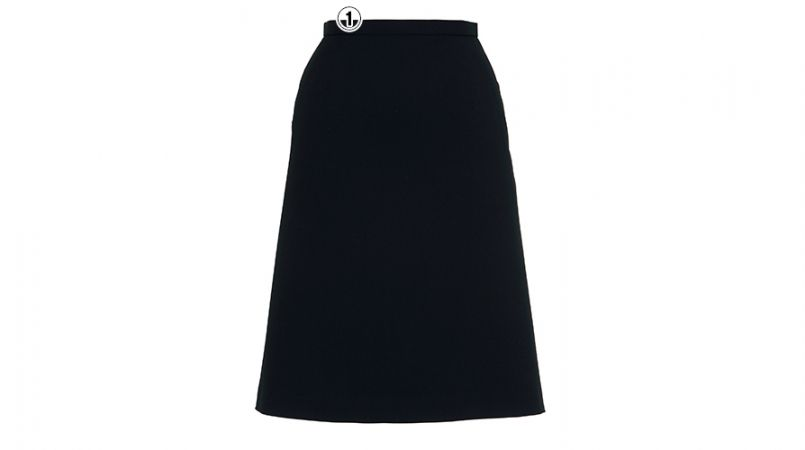 BONMAX AS2258 [通年]トリクシオンヘリンボーン  Aラインスカート 無地 2WAYストレッチ 商品詳細・こだわりPOINT