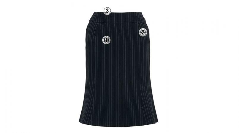 BONMAX AS2259 [通年]エクセラ マーメイドスカート ストライプ 2WAYストレッチ 商品詳細・こだわりPOINT