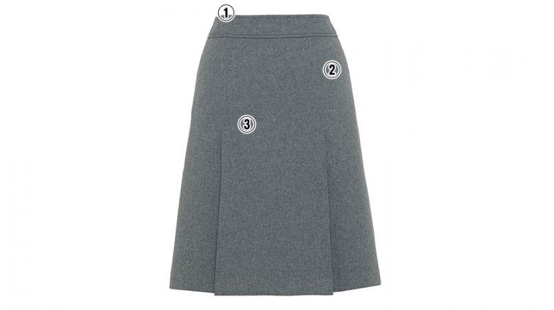 BONMAX AS2265 [通年]アドレ プリーツスカート 無地 商品詳細・こだわりPOINT
