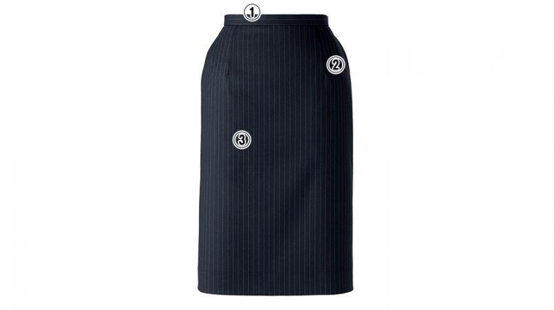 BONMAX AS2271 [通年]ベガ タイトスカート ストライプ 商品詳細・こだわりPOINT