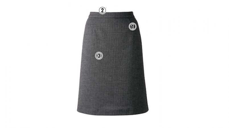 BONMAX AS2274 [通年]アウトラストA Aラインスカート ストライプ 商品詳細・こだわりPOINT