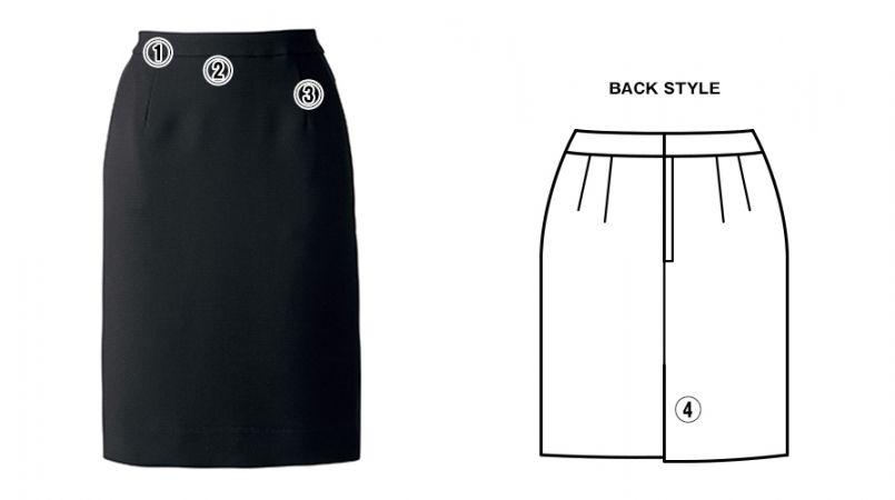 BONMAX AS2278 [通年]インプレス タイトスカート 無地[54cm] 商品詳細・こだわりPOINT