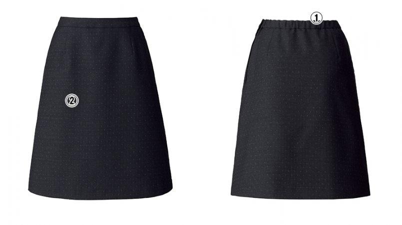 BONMAX AS2288 [通年]ディライト Aラインスカート ドット 商品詳細・こだわりPOINT