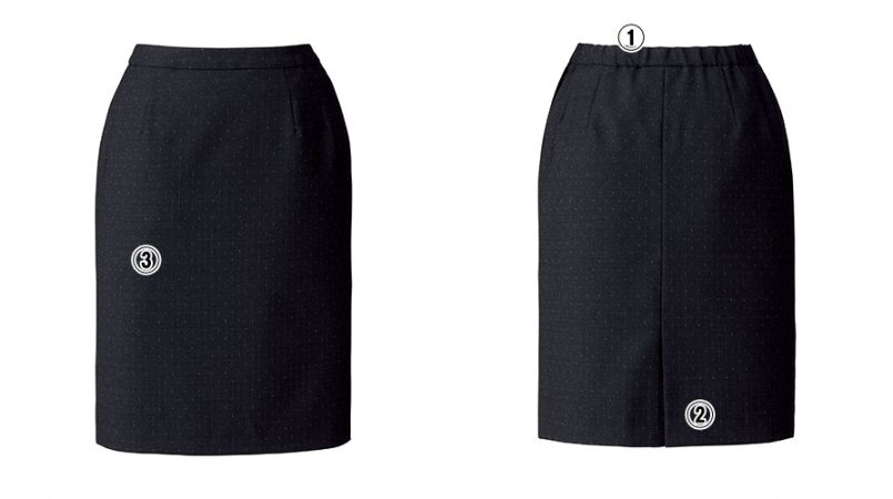 BONMAX AS2289 [通年]ディライト タイトスカート ドット 商品詳細・こだわりPOINT