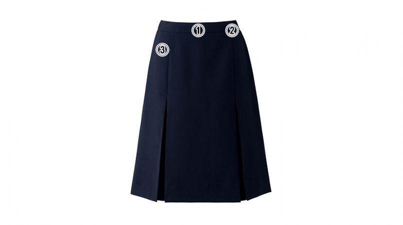 BONMAX AS2293 [通年]トリクシオントロピカル プリーツスカート 無地 商品詳細・こだわりPOINT