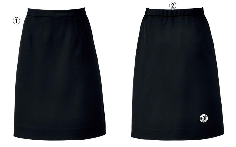 BONMAX AS2301 [通年]ハウンドトゥースニット セミタイトスカート ニット 無地 商品詳細・こだわりPOINT