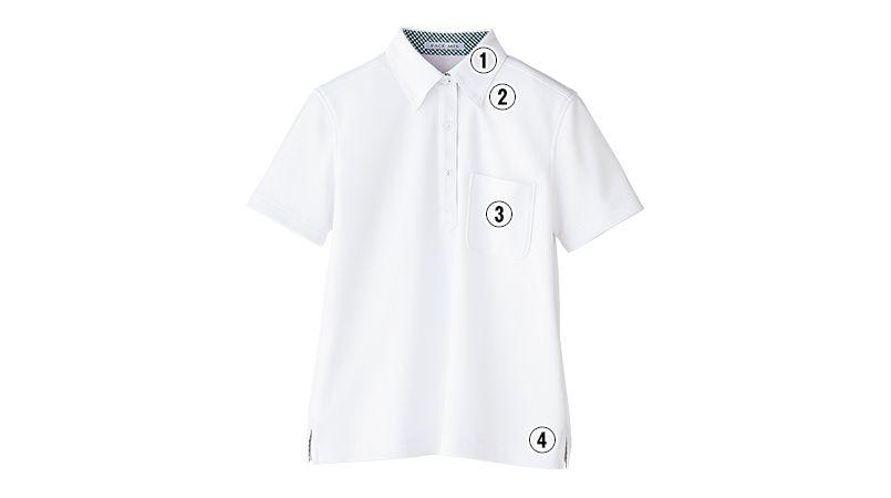 FB4017L FACEMIX ドライポロシャツチェック(女性用)ボタンダウン 商品詳細・こだわりPOINT