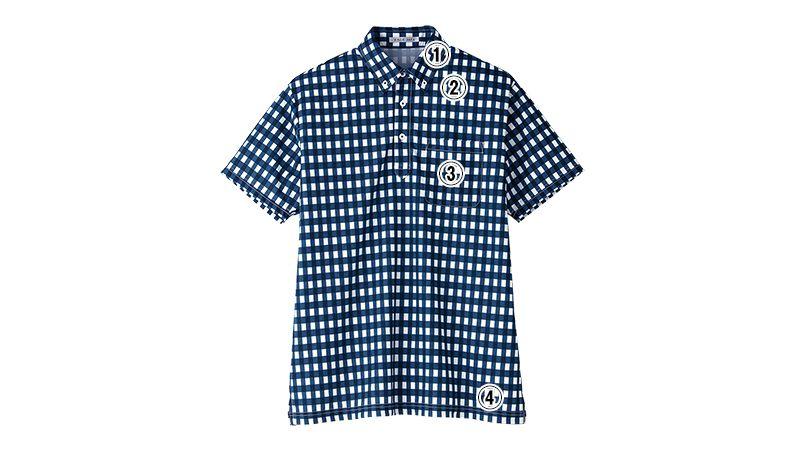 FB4523U FACEMIX チェックプリントドライポロシャツ/半袖(男女兼用)ボタンダウン 商品詳細・こだわりPOINT