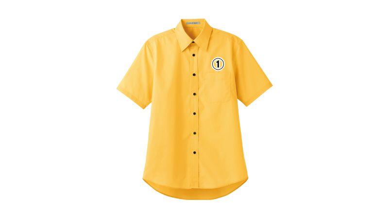 FB4527U FACEMIX ブロードレギュラーカラーシャツ/半袖(男女兼用) 商品詳細・こだわりPOINT