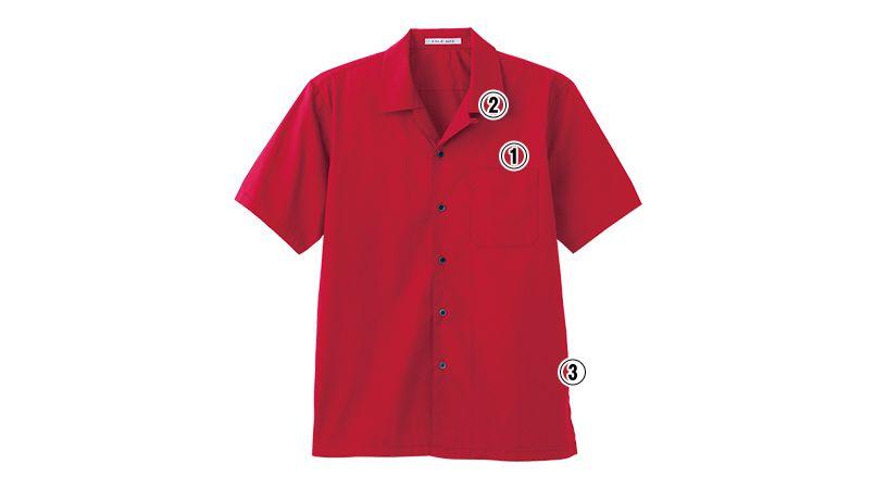 FB4529U FACEMIX ブロードオープンカラーシャツ/半袖(男女兼用) 商品詳細・こだわりPOINT