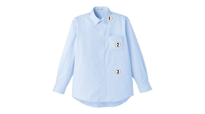 FB5015M FACEMIX 吸汗速乾シャツ/長袖(男性用)ボタンダウン 商品詳細・こだわりPOINT