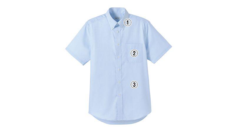 FB5016M FACEMIX 吸汗速乾シャツ/半袖(男性用)ボタンダウン 商品詳細・こだわりPOINT