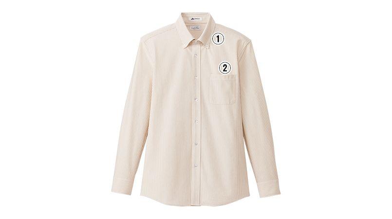 FB5028M FACEMIX 吸汗速乾ニットシャツ/長袖(男性用) 商品詳細・こだわりPOINT
