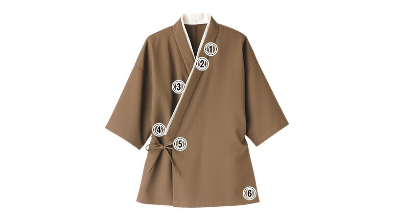 FJ0704U FACEMIX 作務衣(上衣)(男女兼用) 商品詳細・こだわりPOINT