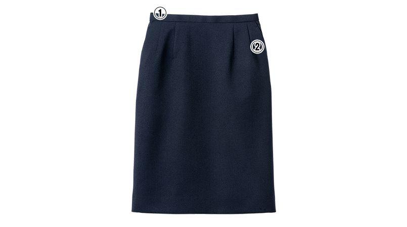 FS2004L FACEMIX/ALBA(アルバ) ストレッチスカート(女性用) 無地 商品詳細・こだわりPOINT