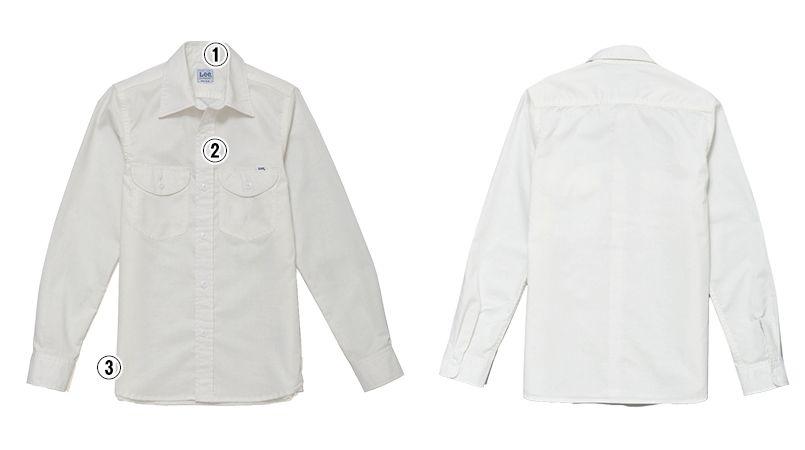 LCS43003 Lee シャンブレーシャツ/長袖(女性用) 商品詳細・こだわりPOINT