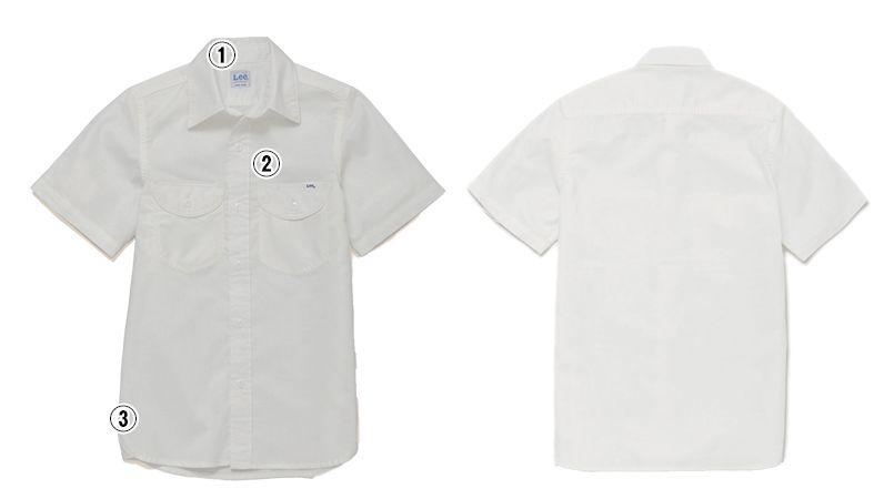 LCS43005 Lee シャンブレーシャツ/半袖(女性用) 商品詳細・こだわりPOINT