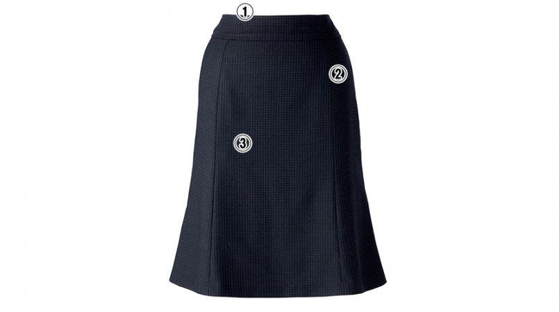 BONMAX LS2188 [通年]リブラ マーメイドスカート ドット柄 商品詳細・こだわりPOINT