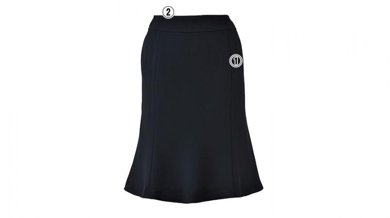 LS2741 BONMAX/べルタ マーメイドスカート 無地 商品詳細・こだわりPOINT