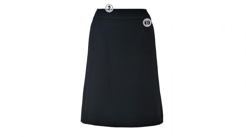 LS2742 BONMAX/べルタ Aラインスカート 無地 商品詳細・こだわりPOINT