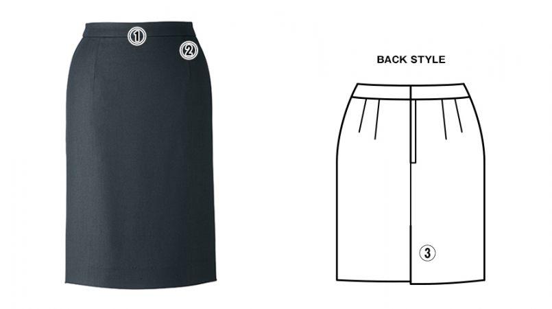 BONMAX LS2747 [春夏用]エアリネス タイトスカート 無地 商品詳細・こだわりPOINT