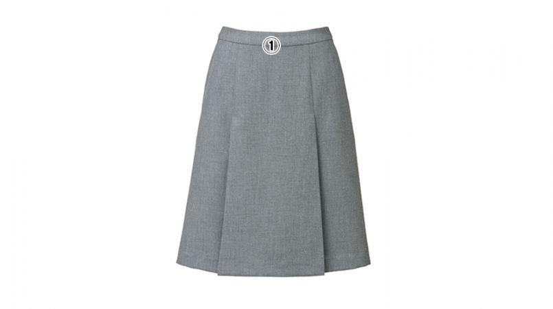 BONMAX LS2751 [春夏用]プラティーヌ プリーツスカート 無地 商品詳細・こだわりPOINT