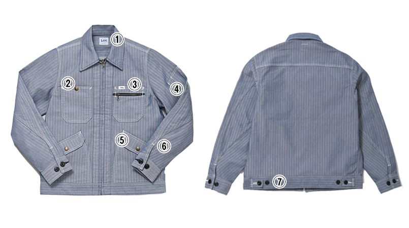 Lee LWB03001 ジップアップジャケット(女性用) 商品詳細・こだわりPOINT