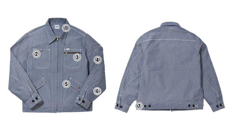 Lee LWB06001 ジップアップジャケット(男性用) 商品詳細・こだわりPOINT