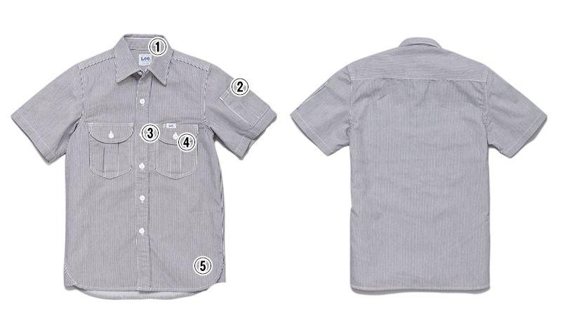 Lee LWS46002 メンズワーク半袖シャツ(男性用) 商品詳細・こだわりPOINT