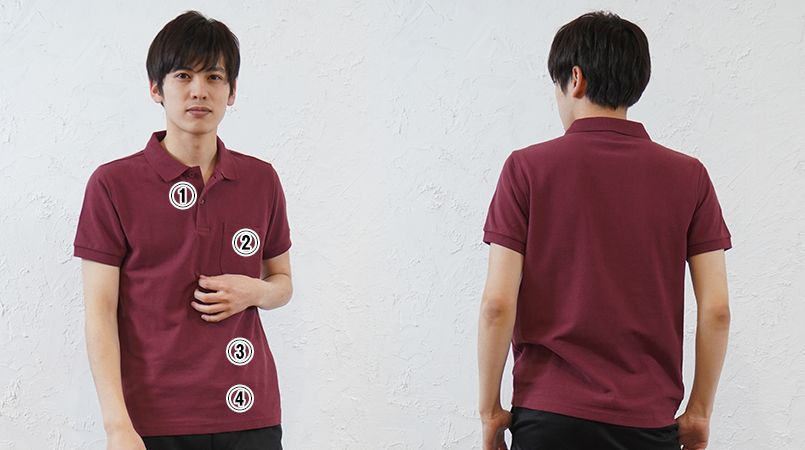 MS3114 LIFEMAX CVCポロシャツ(男女兼用) 綿60% ポリ40% 商品詳細・こだわりPOINT