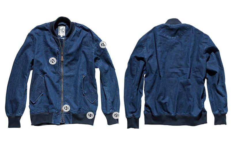 ROCKY RJ0907 デニムMA-1ミリタリージャケット(男女兼用) 商品詳細・こだわりPOINT