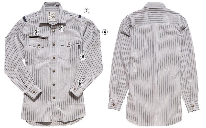RS4602 ROCKY ワークシャツ(男性用) 商品詳細・こだわりPOINT