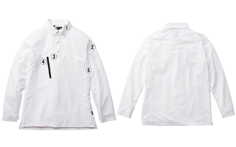 RS4903 ROCKY 長袖トリコットシャツ(男女兼用) ニット 商品詳細・こだわりPOINT