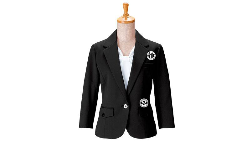 00106 BONUNI(ボストン商会) 七分袖/ニットワッフルジャケット(女性用) 商品詳細・こだわりPOINT