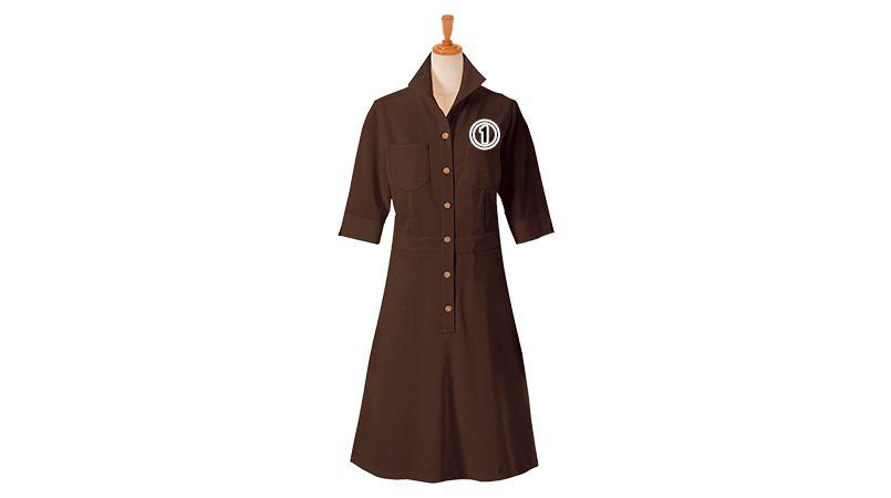 [在庫限り]00108 BONUNI(ボストン商会) ニットワッフルワンピース(女性用) 商品詳細・こだわりPOINT