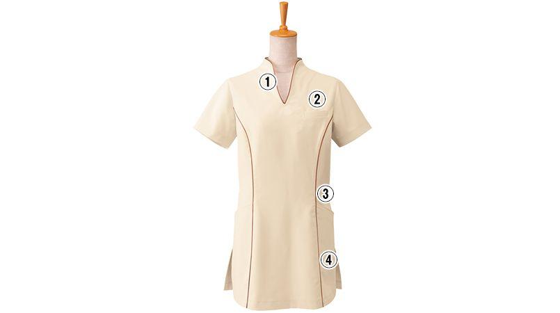 00120 BONUNI(ボストン商会) チュニックシャツ(女性用) 商品詳細・こだわりPOINT