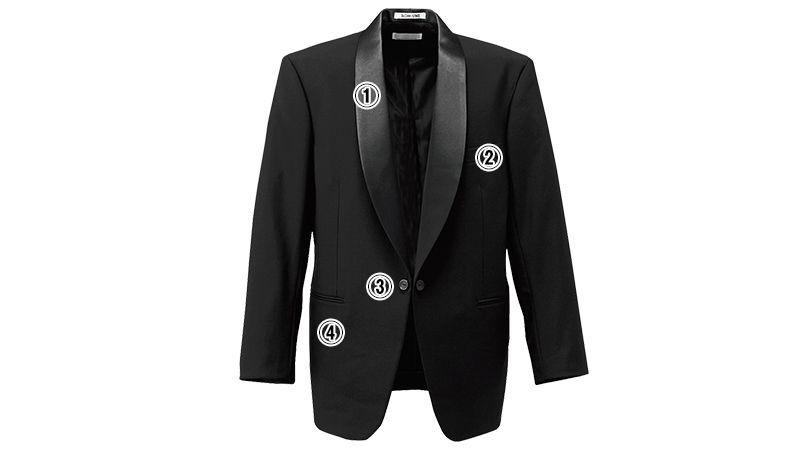 01103-02 BONUNI(ボストン商会) 拝絹タキシード(男性用) ショールカラー 商品詳細・こだわりPOINT