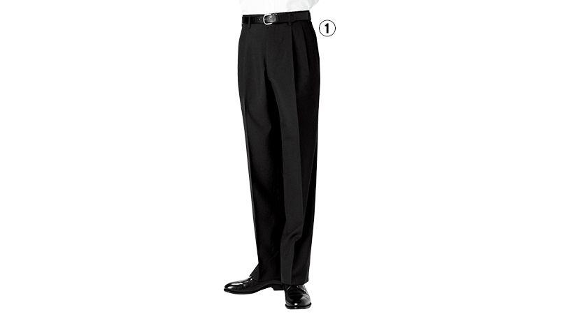 01120-09 BONUNI(ボストン商会) ツータックスラックス(男性用) トロピカル 商品詳細・こだわりPOINT