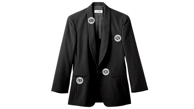 01220-09 BONUNI(ボストン商会) タックスコート(男性用) ショールカラー 商品詳細・こだわりPOINT