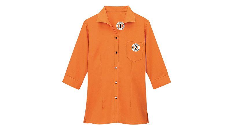 08935 BONUNI(ボストン商会) イタリアンカラーシャツ/七分袖(女性用)ワッフル 商品詳細・こだわりPOINT