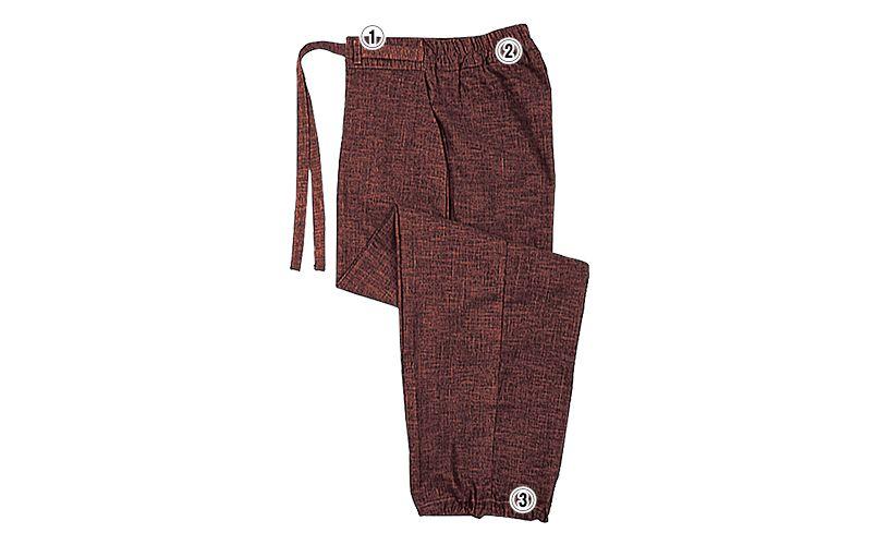09700 BONUNI(ボストン商会) 作務衣下衣(男女兼用) 扱き染 商品詳細・こだわりPOINT