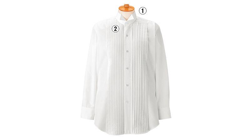 14110 BONUNI(ボストン商会) ピンタックシャツ/長袖(男性用)(ループ付) 商品詳細・こだわりPOINT