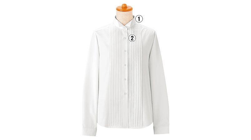 14210 BONUNI(ボストン商会) ピンタックシャツ/長袖(女性用)(ループ付) 商品詳細・こだわりPOINT