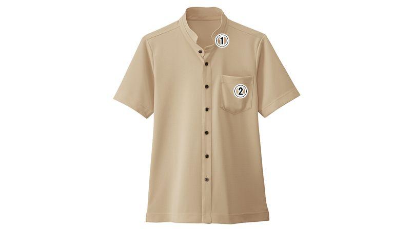 23304 BONUNI(ボストン商会) スタンドカラーニットシャツ/半袖(男女兼用) 商品詳細・こだわりPOINT