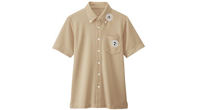 23305 BONUNI(ボストン商会) ボタンダウンニットシャツ/半袖(男女兼用) 商品詳細・こだわりPOINT