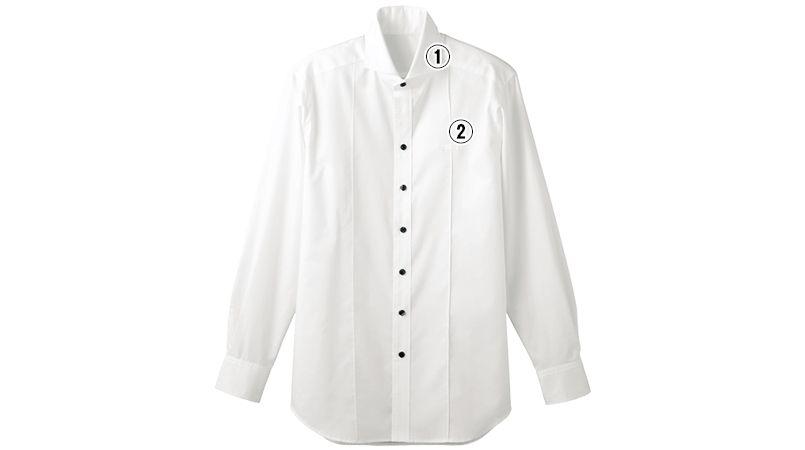 24115 BONUNI(ボストン商会) ホリゾンタルカラーシャツ/長袖(男性用) 商品詳細・こだわりPOINT