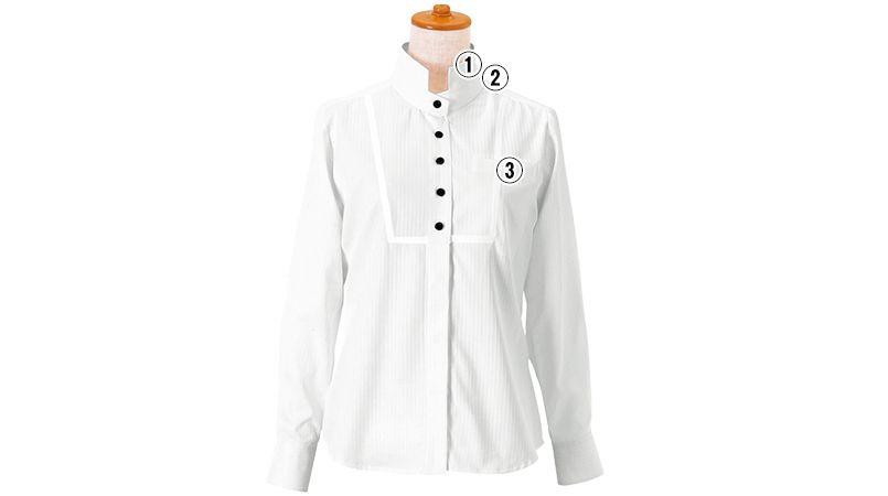 24212 BONUNI(ボストン商会) シャツ/長袖(女性用) ドビーストライプ 商品詳細・こだわりPOINT