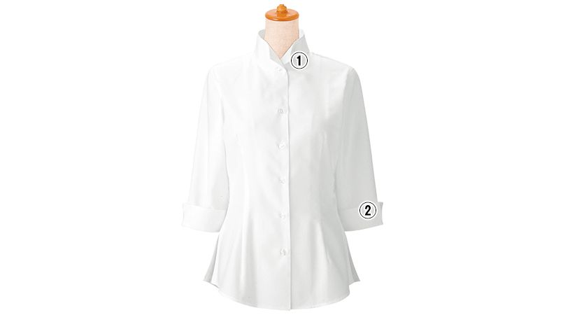 24223 BONUNI(ボストン商会) オックスシャツ/七分袖(女性用) 商品詳細・こだわりPOINT