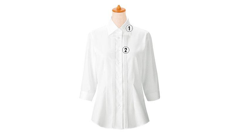 24225 BONUNI(ボストン商会) シャツ/七分袖(女性用) 商品詳細・こだわりPOINT